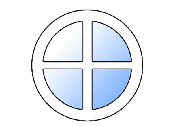 Круглое окно однокамерное