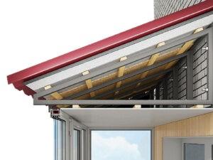Крыша на балконы